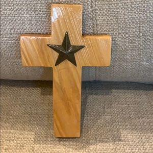 "7"" Handmade Wood Star Cross"